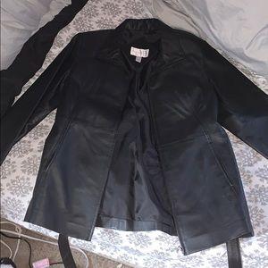 Ladies Petite Leather Jacket